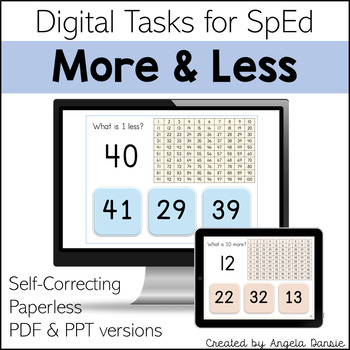 Ten More | Ten Less | One More | One Less | Digital Tasks for Special Education