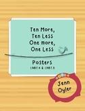 Ten More, Ten Less, One More, One Less Posters 1.NBT.4 & 1.NBT.5