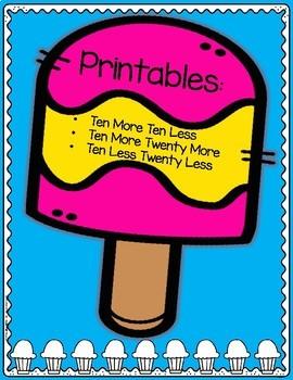 Ten More Ten Less Popsicles