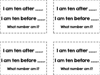 Ten More, Ten Less QR Code Scavenger Hunt Riddles