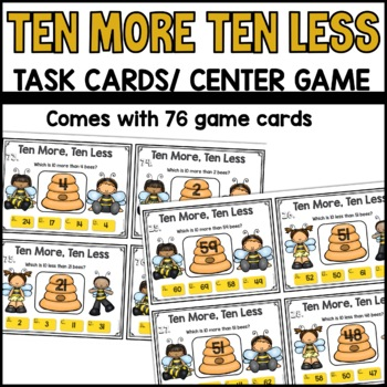 Ten More Ten Less Task Cards