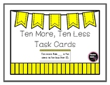 Ten More, Ten Less Task Cards