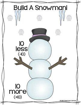 Ten More, Ten Less Winter Activities {Double-digit & Triple-digit Numbers}