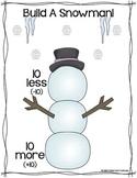 Ten More, Ten Less Winter Activities {Double-digit & Tripl