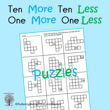 Ten More, Ten Less, and One More, One Less Puzzles