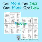 Ten More Ten Less and One More One Less Puzzles