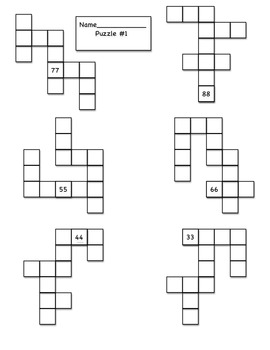 Ten More, Ten Less, and One More and One Less Puzzle