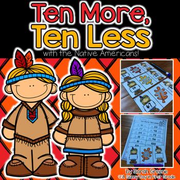 Ten More, Ten Less with the Native Americans!
