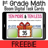 Free Ten More and Ten Less Boom Cards Distance Learning