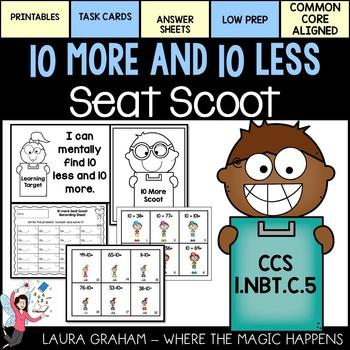 Ten More and Ten Less Scoot 1.NBT.C.5