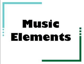 Ten Music Elements for K-5th