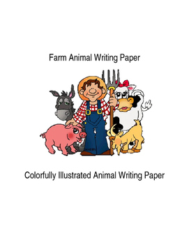 Ten Pages of Farm Animal Writing Paper