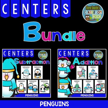 Addition and Subtraction Quick and Easy to Prep Penguin Center Games for Winter