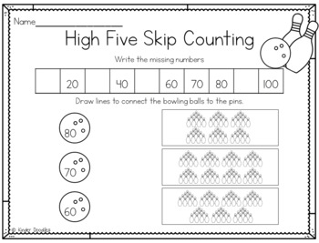 Ten Pin Skip Counting by Tens