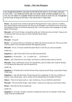 Ten Plagues and Moses Scripts
