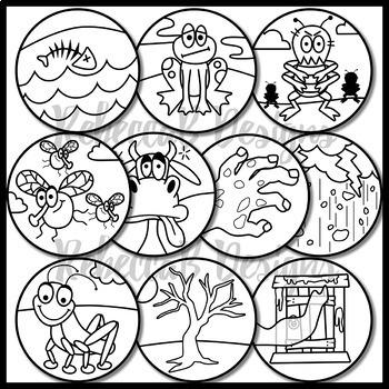 Ten Plagues Of Egypt Clip Art Moses By Rebeccab Designs Tpt