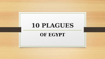 Ten Plaques of Egypt