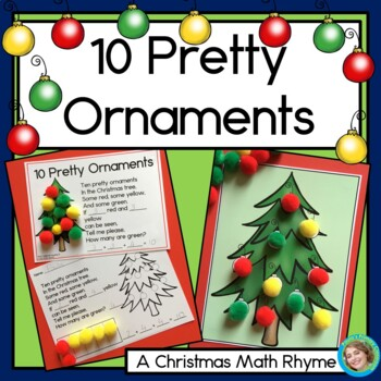 Christmas Math: Ten Pretty Ornaments, Missing Addends