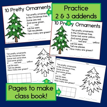 Christmas Missing Addends with Ten Pretty Ornaments book
