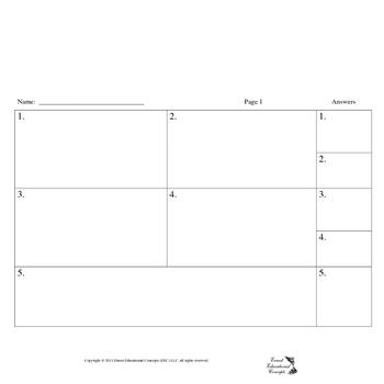 Ten Problem Answer Sheet