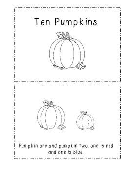 Ten Pumpkins Emergent Reader