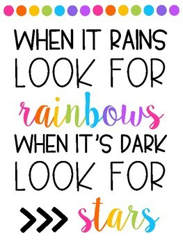 Ten Rainbow Themed Quote Posters (White Background)
