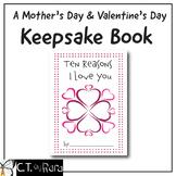 Ten Reasons I Love You Mother's Day Keepsake Book Writing