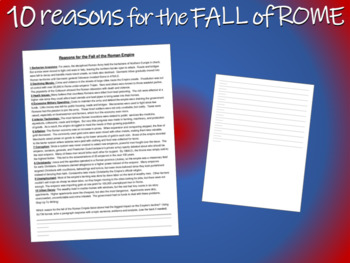 Ten Reasons for the Fall of the Roman Empire