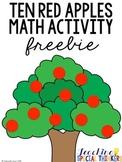 Ten Red Apples - Math Activity Freebie