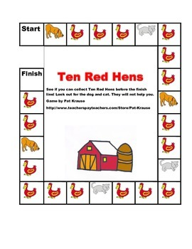 Sight words: I, the, like  TEN RED HENS