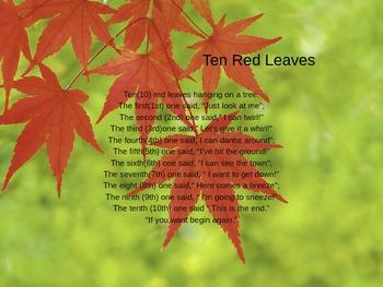 Ten Red Leaves