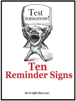 Ten Reminder Signs for the Classroom