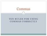 Ten Rules for Comma Use Power Point Presentation