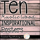 Ten Rustic Wood Shiplap Inspirational Posters