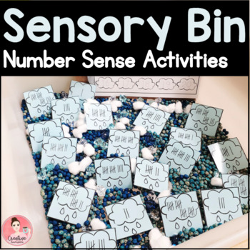 Ten Sensory Bin Number Sense Sets for Kindergarten in English and French