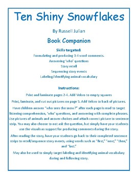 Ten Shiny Snowflakes Book Companion