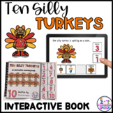 Ten Silly Turkeys Adaptive Book and Boom Cards