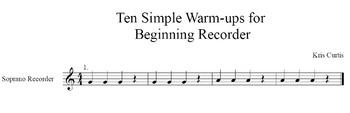 Ten Simple BAG Recorder Warm-ups