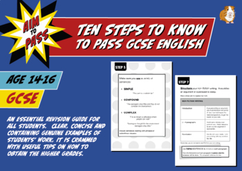 Ten Steps Students Need To Know To Pass GCSE English (14-16 years)