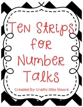 Ten Strip Flashcards for Number Talks