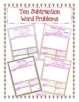 Ten Subtraction Word Problems