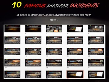 Ten Ten Nuclear Incidents: 25-slide PPT with info, video l