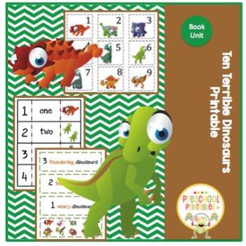 Ten Terrible Dinosaurs Printable