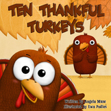 Ten Thankful Turkeys Picture Book