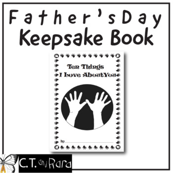 Ten Things I Love You Father's Day Keepsake Book Writing
