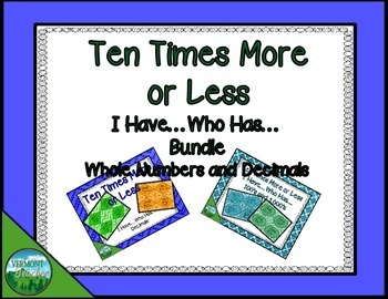 Ten Times More or Less Bundle - 2 Activities