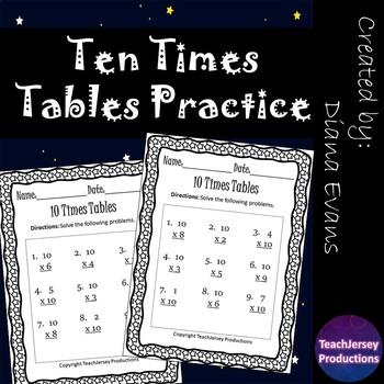 Ten Times Tables Practice