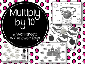 Ten Times Tables. Worksheets. Multiplication