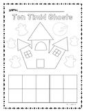 Ten Timid Ghost Ten Frame