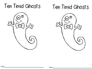 Ten Timid Ghosts Freebie
